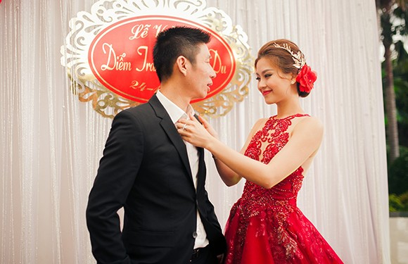 Chồng Á hậu Diễm Trang lái siêu xe 10 tỷ đi hỏi vợ - ảnh 10