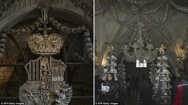 Khám phá nhà thờ được trang trí bằng 40.000 bộ hài cốt - ảnh 3