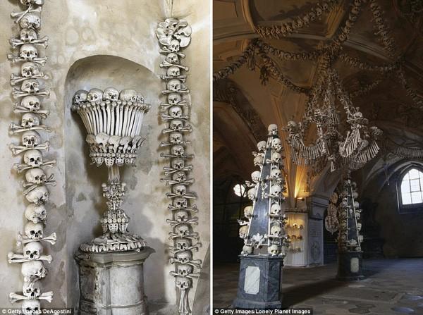 Khám phá nhà thờ được trang trí bằng 40.000 bộ hài cốt - ảnh 4