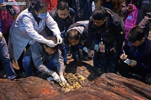 Phát hiện hàng trăm thỏi vàng bên trong mộ 2.000 năm - ảnh 1