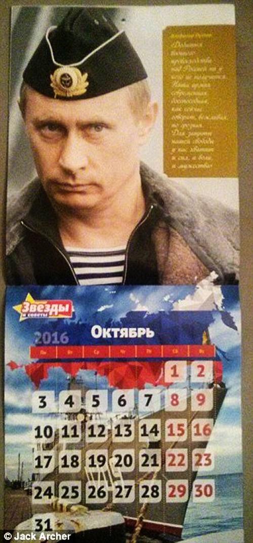 Chiêm ngưỡng ông Putin 'hoàn toàn khác' trên lịch năm mới - ảnh 7