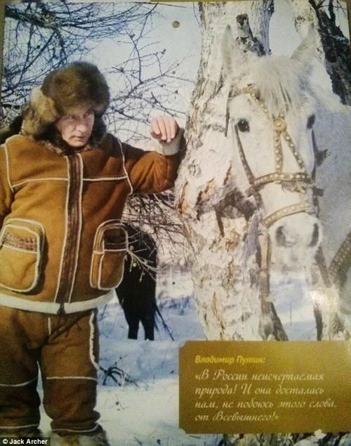 Chiêm ngưỡng ông Putin 'hoàn toàn khác' trên lịch năm mới - ảnh 5