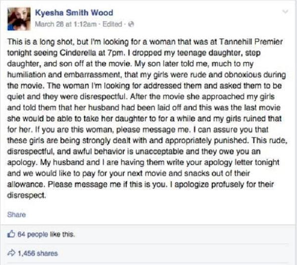 Lời xin lỗi gây 'bão' của bà mẹ với người đã mắng con mình - ảnh 1