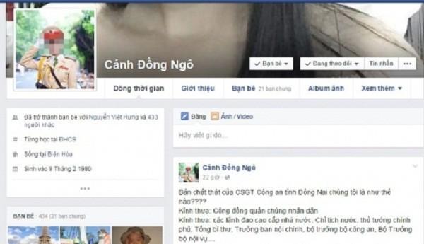 Công an Đồng Nai lên tiếng vụ bị tố cáo trên Facebook - ảnh 1