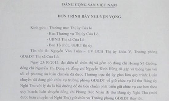 Nghệ An: Trưởng phòng giáo dục 'từ chối' làm bí thư phường - ảnh 2
