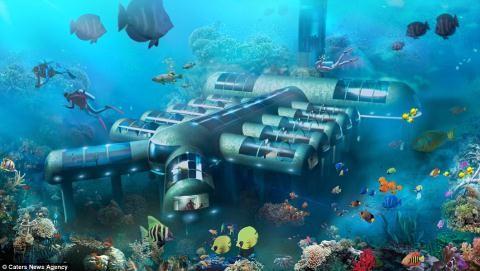 Cận cảnh khách sạn dưới đáy biển đầu tiên trên thế giới - ảnh 1