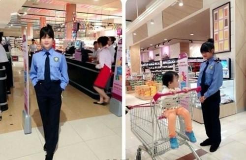 Dân mạng 'sốt' với vẻ đẹp của nữ nhân viên bảo vệ - ảnh 1