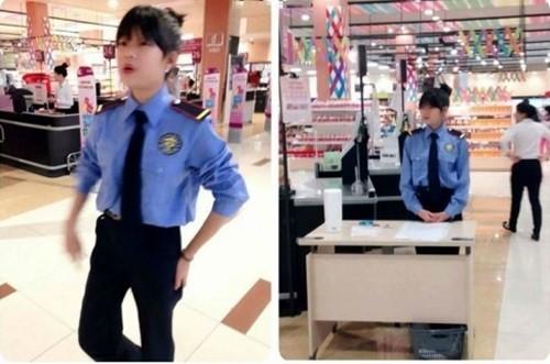 Dân mạng 'sốt' với vẻ đẹp của nữ nhân viên bảo vệ - ảnh 2
