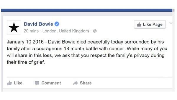 David Bowie qua đời: Cả thế giới tiếc thương một huyền thoại - ảnh 1