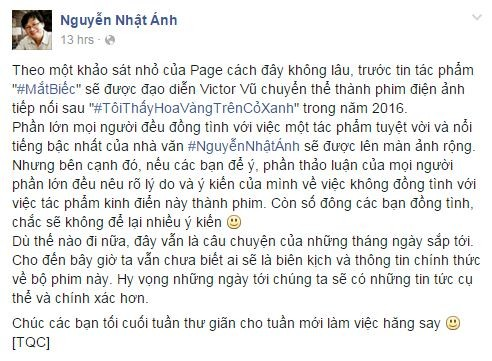 'Mắt biếc' của Nguyễn Nhật Ánh sắp được chuyển thể thành phim? - ảnh 3