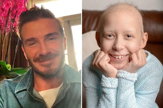 Clip: David Beckham gửi lời động viên đến bé gái bị ung thư máu - ảnh 1
