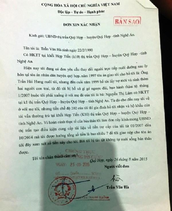 Con khuyết tật rạch tay lấy máu viết thư xin ở với mẹ vì cha hành hạ - ảnh 2
