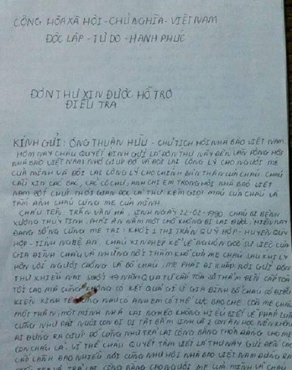 Con khuyết tật rạch tay lấy máu viết thư xin ở với mẹ vì cha hành hạ - ảnh 3