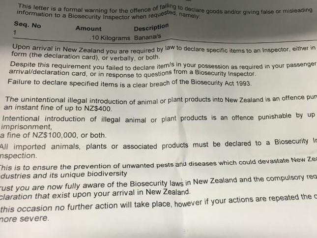 Một phụ nữ bị phạt 6 triệu đồng vì lỡ.. mang chuối vào New Zealand - ảnh 2