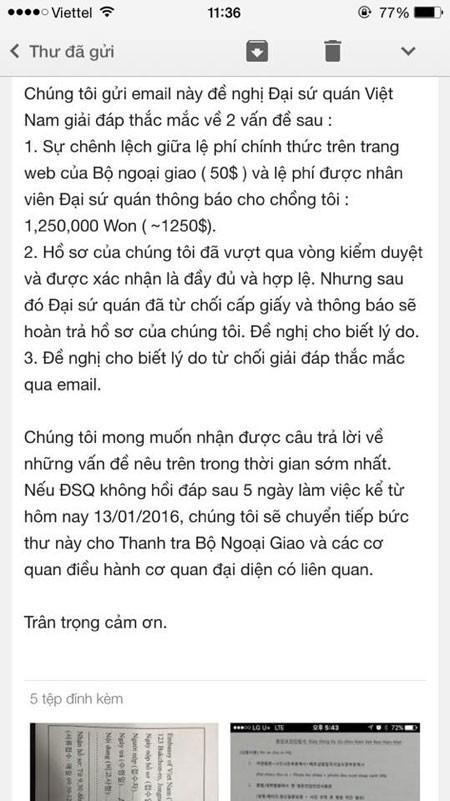 ĐSQ VN tại Hàn Quốc thông báo phí đăng ký kết hôn chênh 1000 USD? - ảnh 2