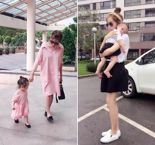 Bộ sưu tập đồ đôi mẹ - con cực 'chất' của Elly Trần - ảnh 9
