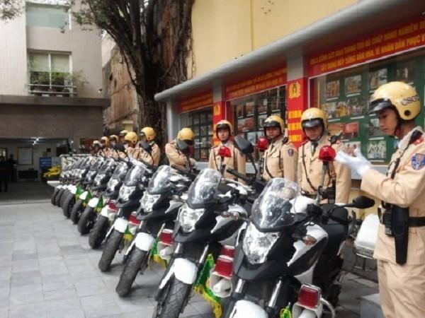 Ngắm dàn xe môtô 750 của CSGT Hà Nội phục vụ đại hội Đảng - ảnh 1