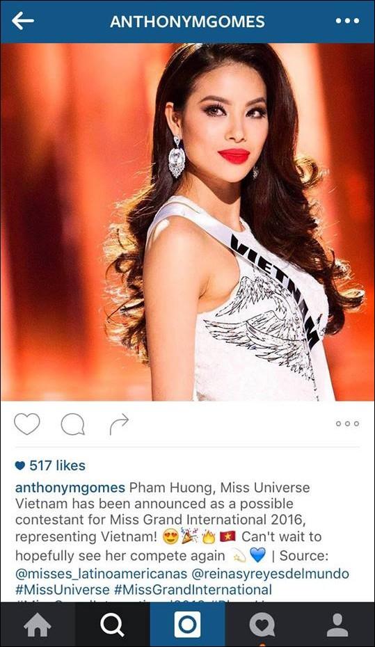 Rộ  tin đồn Phạm Hương dự thi Hoa hậu Hòa bình Thế giới 2016 - ảnh 2