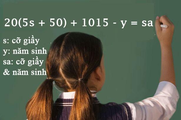'Bài toán thần kỳ' giúp tính số tuổi bằng cỡ giầy - ảnh 1