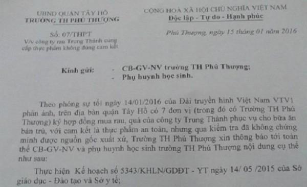 Vụ rau bẩn lên bàn ăn học sinh ở Hà Nội: 'Chúng cháu sợ lắm' - ảnh 3