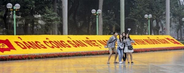 Ngắm Hà Nội rực rỡ cờ hoa dịp Đại hội Đảng 12 - ảnh 4