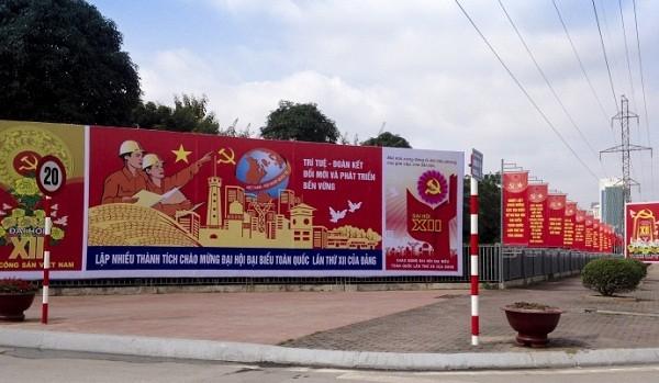 Ngắm Hà Nội rực rỡ cờ hoa dịp Đại hội Đảng 12 - ảnh 12