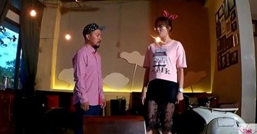 Clip Hari Won và Tiến Đạt cãi nhau trong quán cafe - ảnh 1