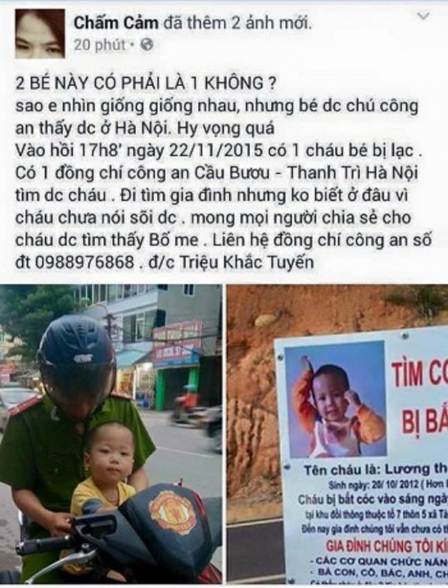Xôn xao thông tin CA Hà Nội đã tìm ra cháu bé bị bắt cóc - ảnh 2