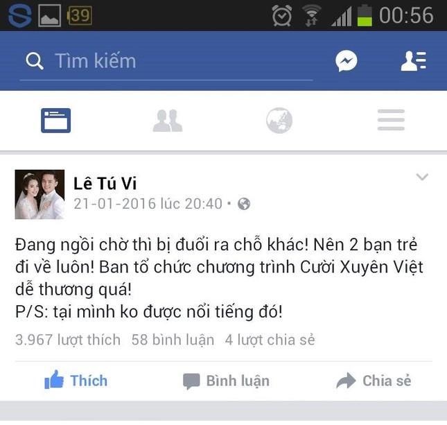 Tú Vi - Văn Anh bị đuổi khi đến xem chương trình Cười Xuyên Việt  - ảnh 2