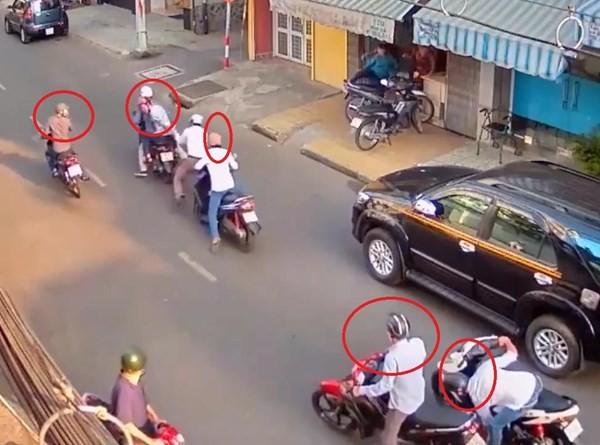 TPHCM: Tóm gọn băng nhóm dàn cảnh đụng xe, cướp tiền trên phố - ảnh 1