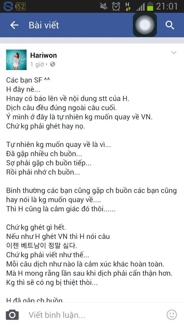 Hariwon lên tiếng đính chính câu nói 'ghét Việt Nam' - ảnh 3