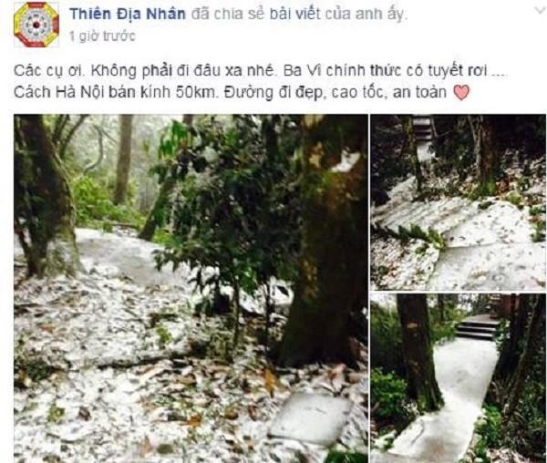 Sau Sa Pa, Mẫu Sơn, Hà Nội cũng có tuyết rơi ? - ảnh 1