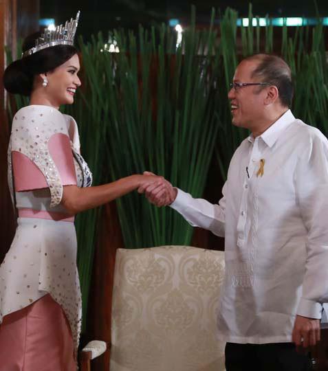 Hoa hậu Hoàn vũ gặp gỡ tổng thống Philippines sau tin đồn hẹn hò - ảnh 1
