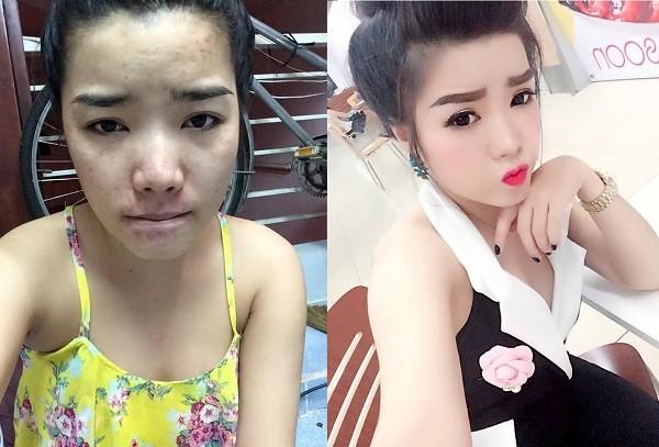 Cô gái quyết định lộ mặt mộc vì không muốn lừa dối bạn trai - ảnh 1