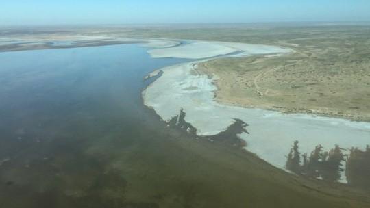 Kỳ lạ hồ sa mạc bỗng dưng đầy nước ở Australia - ảnh 1