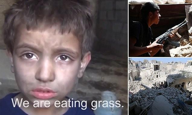 Người Syria ăn cỏ cây sống qua ngày - ảnh 1