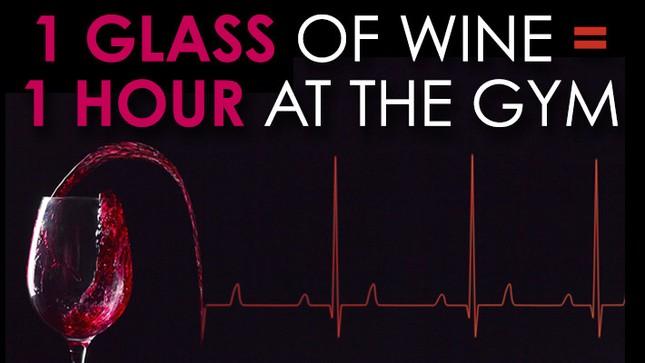 Uống 1 ly rượu vang bằng 1 giờ tập thể dục - ảnh 2