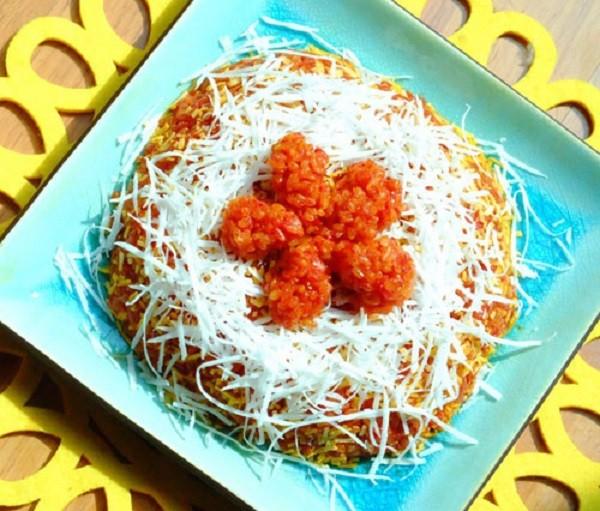 Học cách nấu xôi gấc dừa sợi đỏ tưng bừng cho ngày tết - ảnh 1