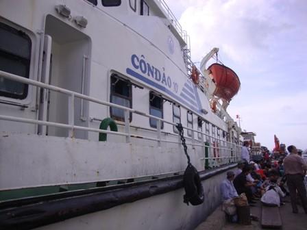 Một hành khách rơi xuống biển từ tàu Côn Đảo 10 - ảnh 1