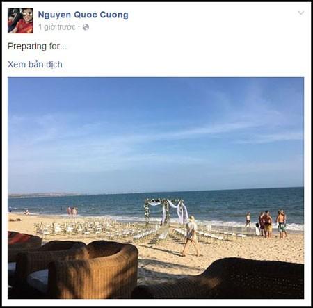 Fan xôn xao khi Cường Đô la đăng ảnh hôn lễ trên bãi biển - ảnh 1