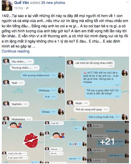Quế Vân viết tâm thư tố Trường Giang 'bắt cá hai tay' - ảnh 1