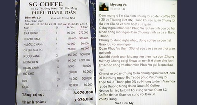 Chủ hóa đơn cafe 4 triệu đồng bức xúc vì thông tin sai lệch - ảnh 2