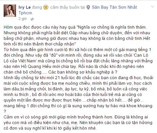 Hot girl Ivy tố Hồ Quang Hiếu ghen tuông mù quáng - ảnh 2