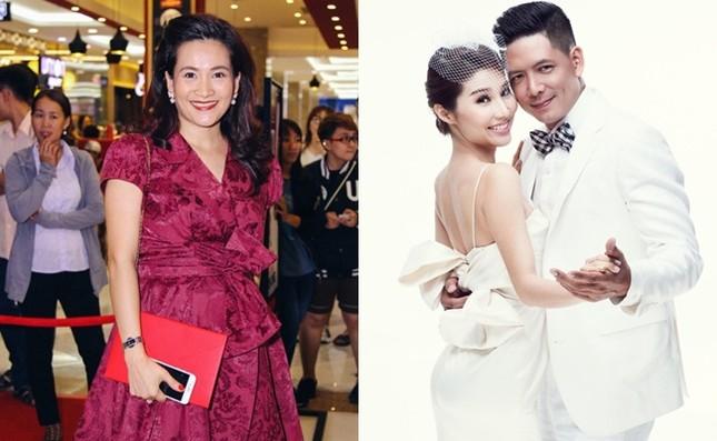 Bà xã Bình Minh vui vẻ đến dự 'đám cưới' của chồng và Diễm My 9X - ảnh 1