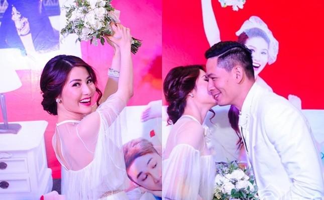 Bà xã Bình Minh vui vẻ đến dự 'đám cưới' của chồng và Diễm My 9X - ảnh 3