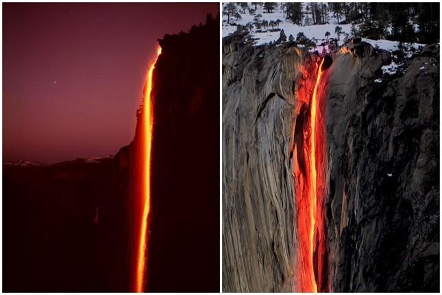 Kỳ lạ dòng 'thác lửa' phun nước đỏ rực như nham thạch - ảnh 4