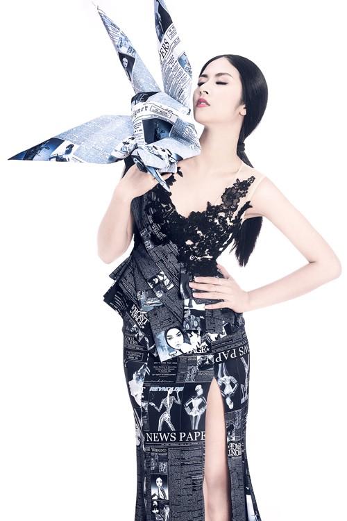 Ngọc Hân diện thời trang 'giấy báo' cực chất khoe vẻ quyến rũ - ảnh 10