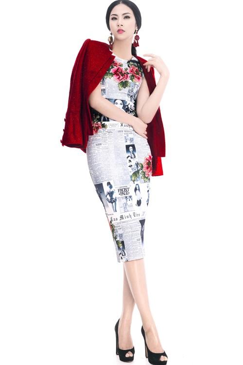 Ngọc Hân diện thời trang 'giấy báo' cực chất khoe vẻ quyến rũ - ảnh 6