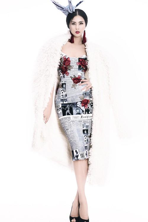 Ngọc Hân diện thời trang 'giấy báo' cực chất khoe vẻ quyến rũ - ảnh 4