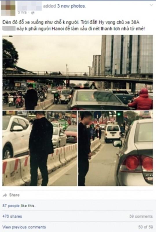 CSGT không có chế tài phạt 'quý ông' dừng ô tô tè bậy giữa đường - ảnh 1